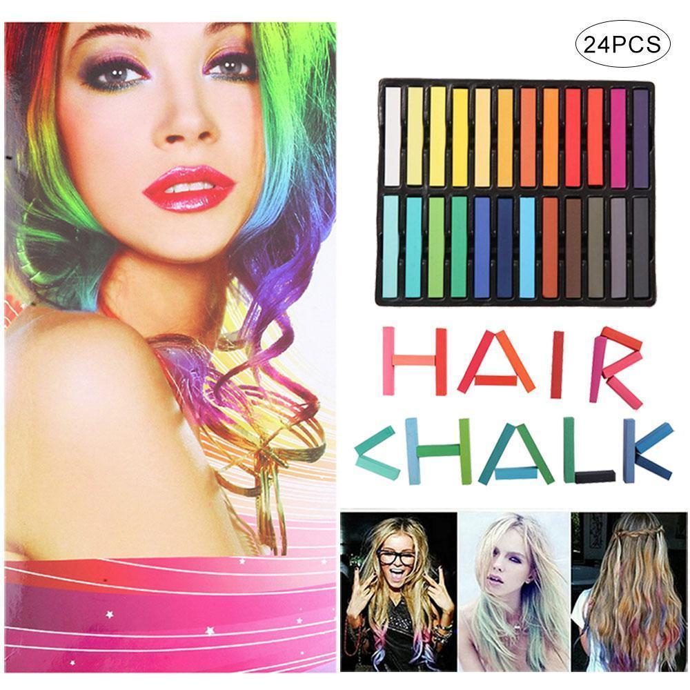 Hair Color Chalk ,Hair Color Chalk Color Short Color Chalk Suit,Sticks of  Temporary Nontoxic Hair Dye for Party, Cosplay, DIY, Theater, Halloween