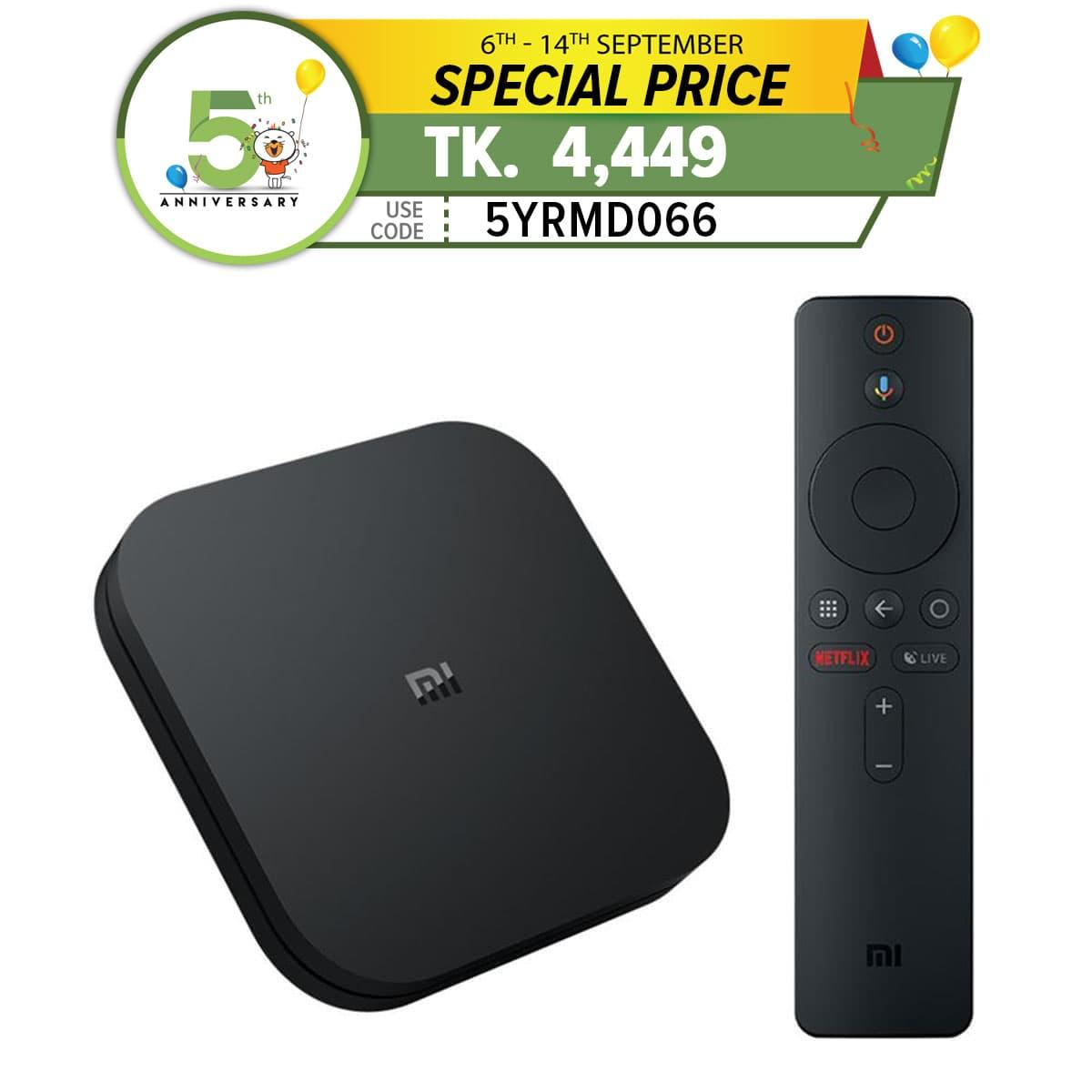 Mi TV Box S with Google Assistant and built-in Chromecast - black