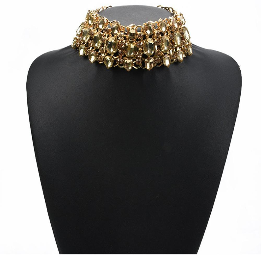 Shining Drop-shaped Diamond Necklace Crystal Rhinestone Clavicle Chain For  Women s Clothing Accessories df18d4306ae1