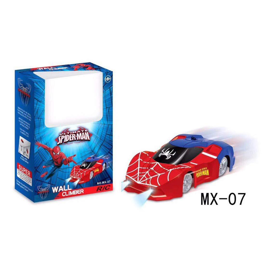 Wall Climber SPIDER-MAN magical car Wall Climbing Car Remote Control Car RC Racing Car Spiderman Car Toys for Kids Wall Stunt Climber Birthday Gifts - Red