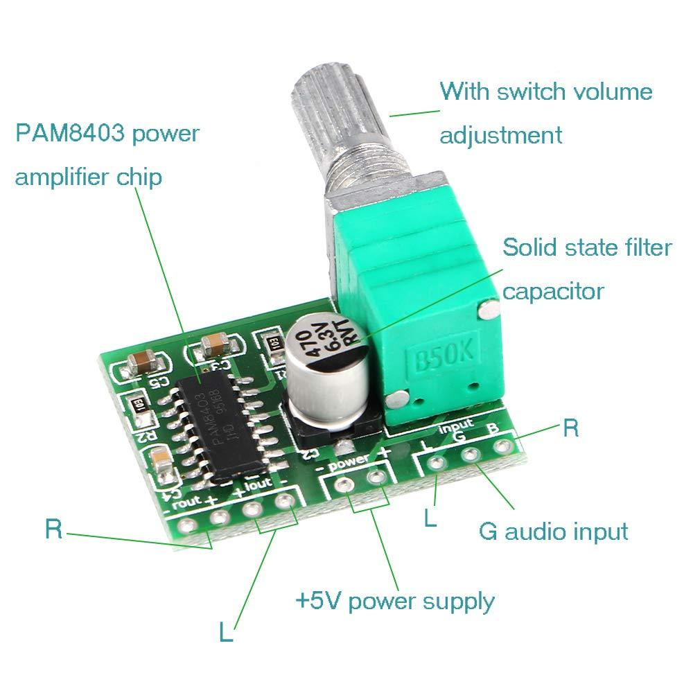 PAM8403 with Volume Comtrol Amplifier