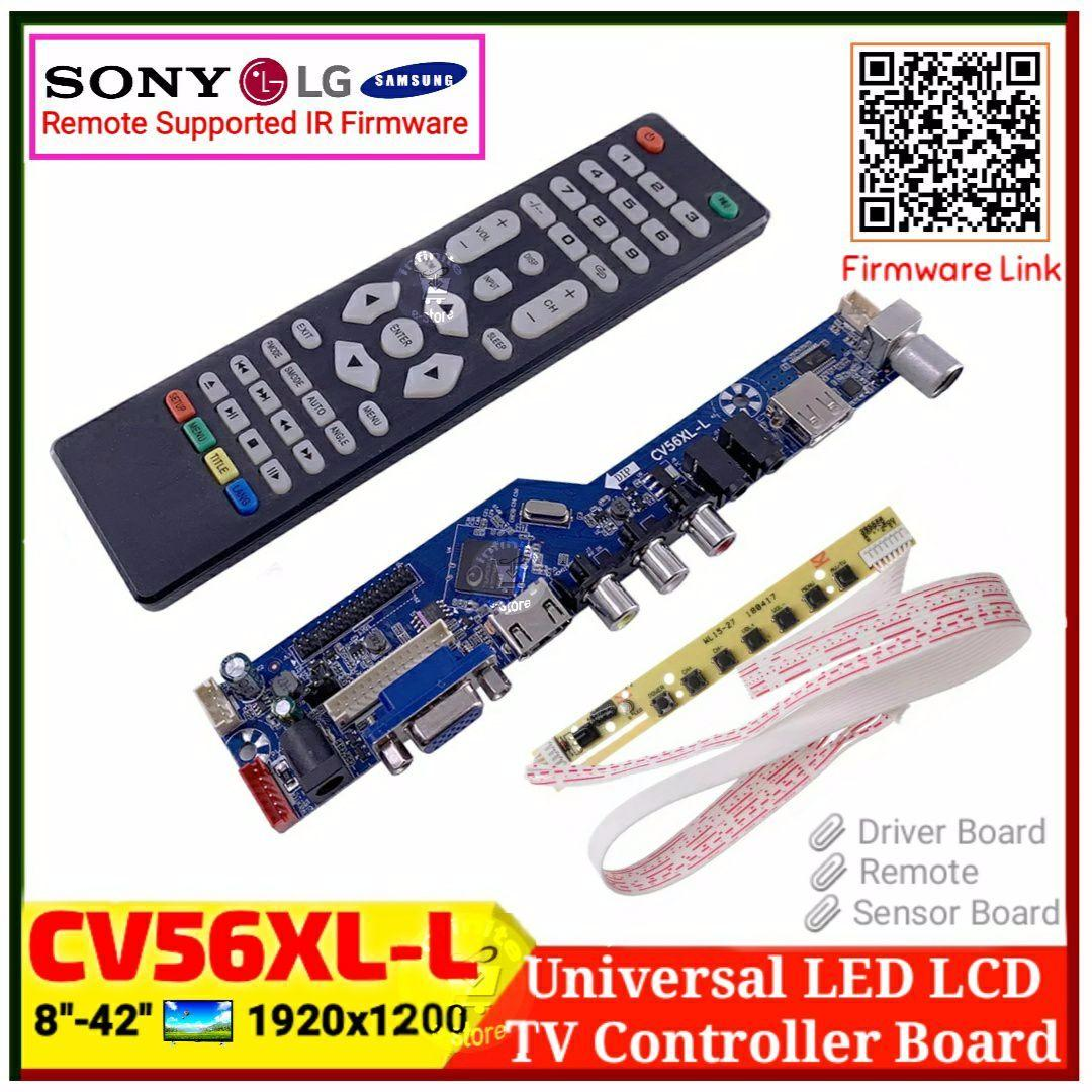CV56XL-L Universal LCD LED TV Controller Driver Board Kit  TV/PC/VGA/HDMI/USB Interface Matrix V53RUUL-Z1 replace T V56 T RD8503 03