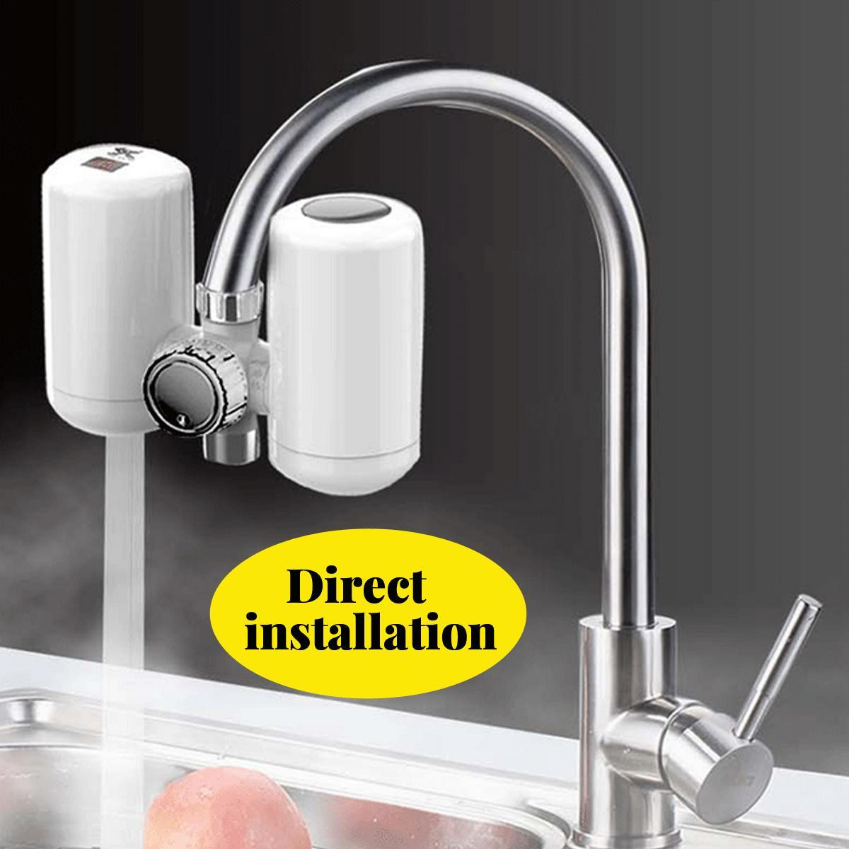 Free Installation Electric Faucet Tap W Filter Hot Water Fast Heating Kitchen