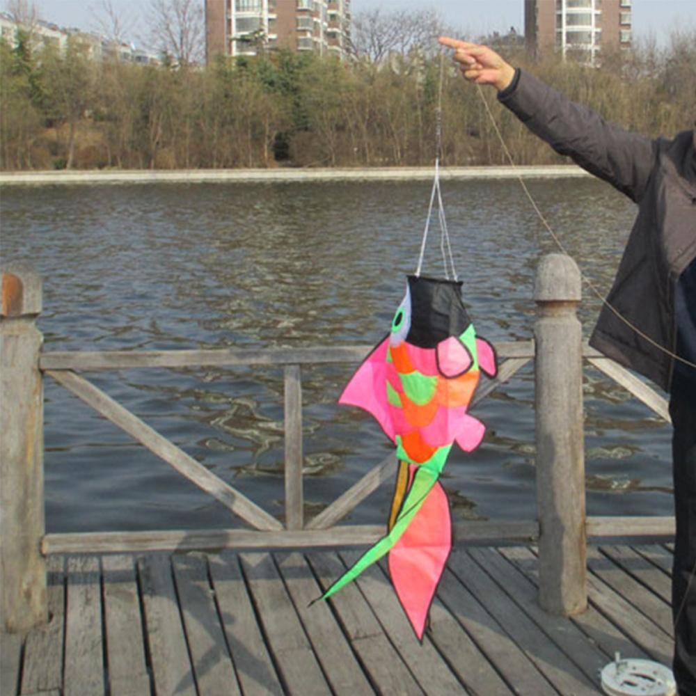 Rainbow Fish Windsock Wind Spinner Colorful 33/'/' Swivel Backyard Garden Decor