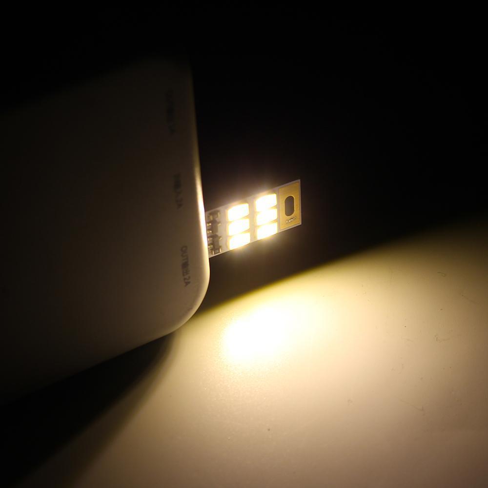Usb Gadgets Portable Mini Usb Power 1w 5v Light Sensitive Control 6 Led Pure White Card Lamp For Power Bank Laptop Computer & Office