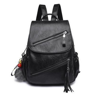Fashion Womens Leather Shoulder Bags Casual Travel Backpacks Korea Bookbags