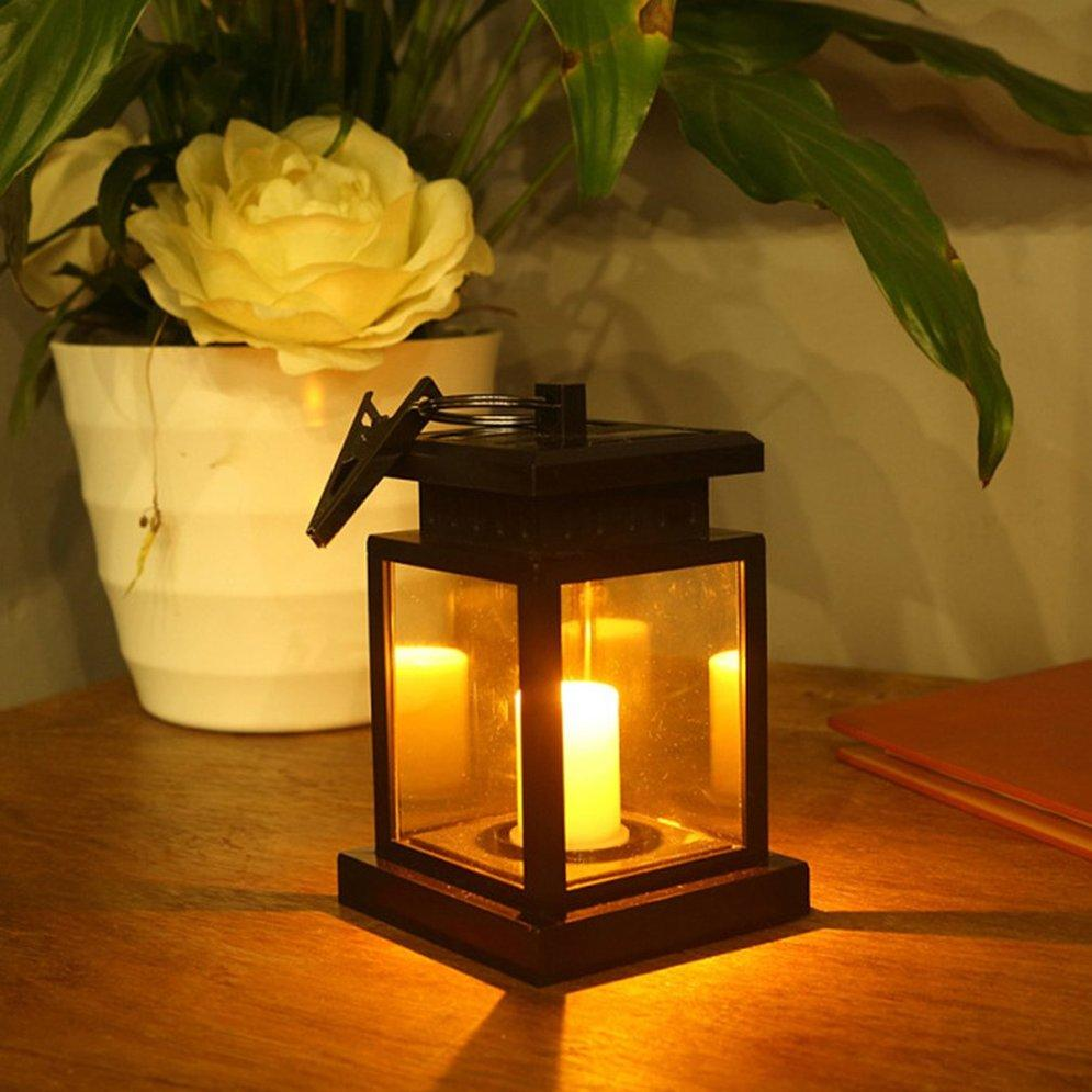 Outdoor Lighting Solar Led Garden Light Outdoor Waterproof Flickering Flameless Candle Lamp Hanging Lantern For Yard Lawn Art Decoration A Great Variety Of Models