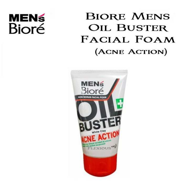 Double Scrub Acne Solution Facial Foam Face Wash for Men - 100g