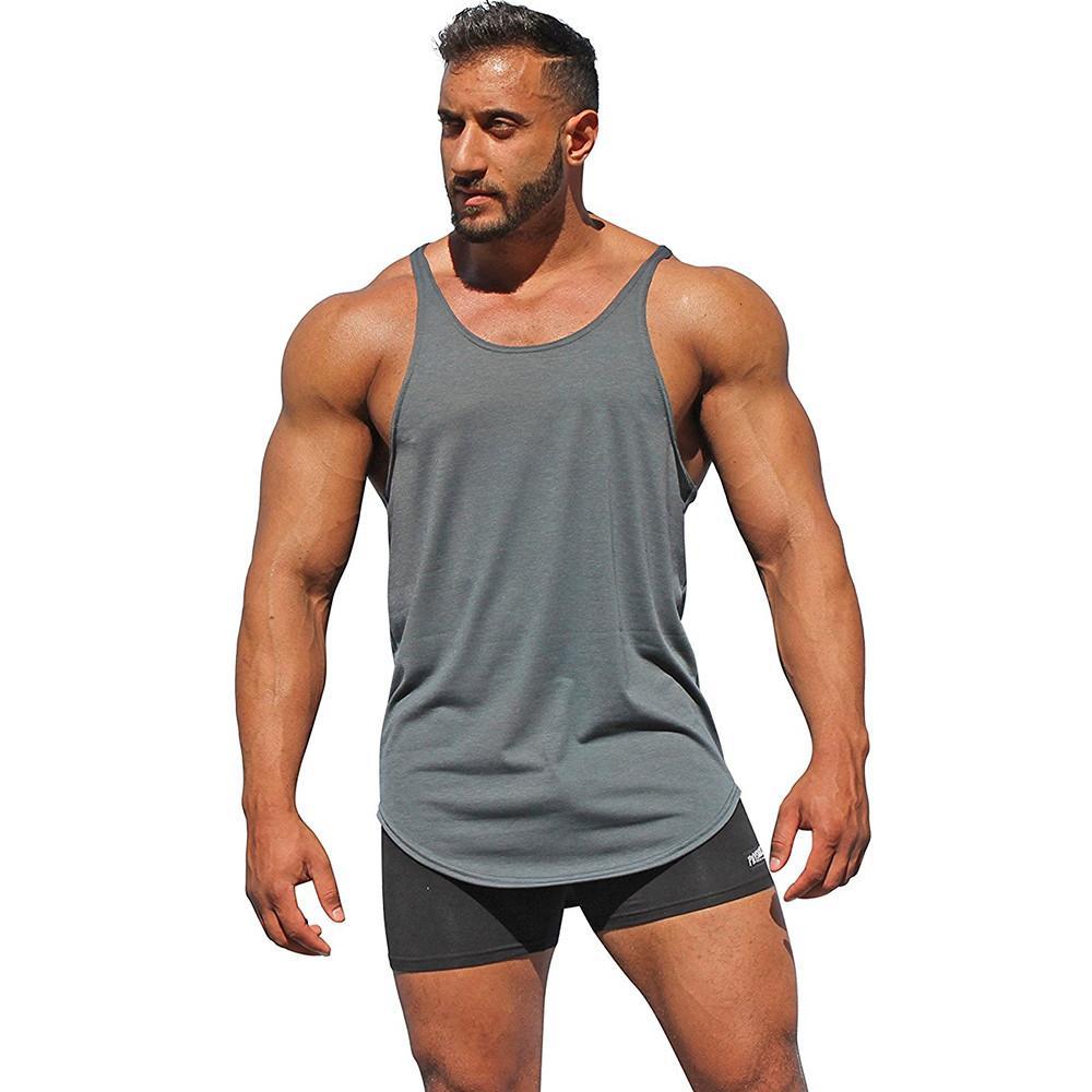 ccd5cf6d Rainbowroom Fashion Surf Men's Sport Beach Swimming Fitness Tank Slim Fit  Muscle Shirt