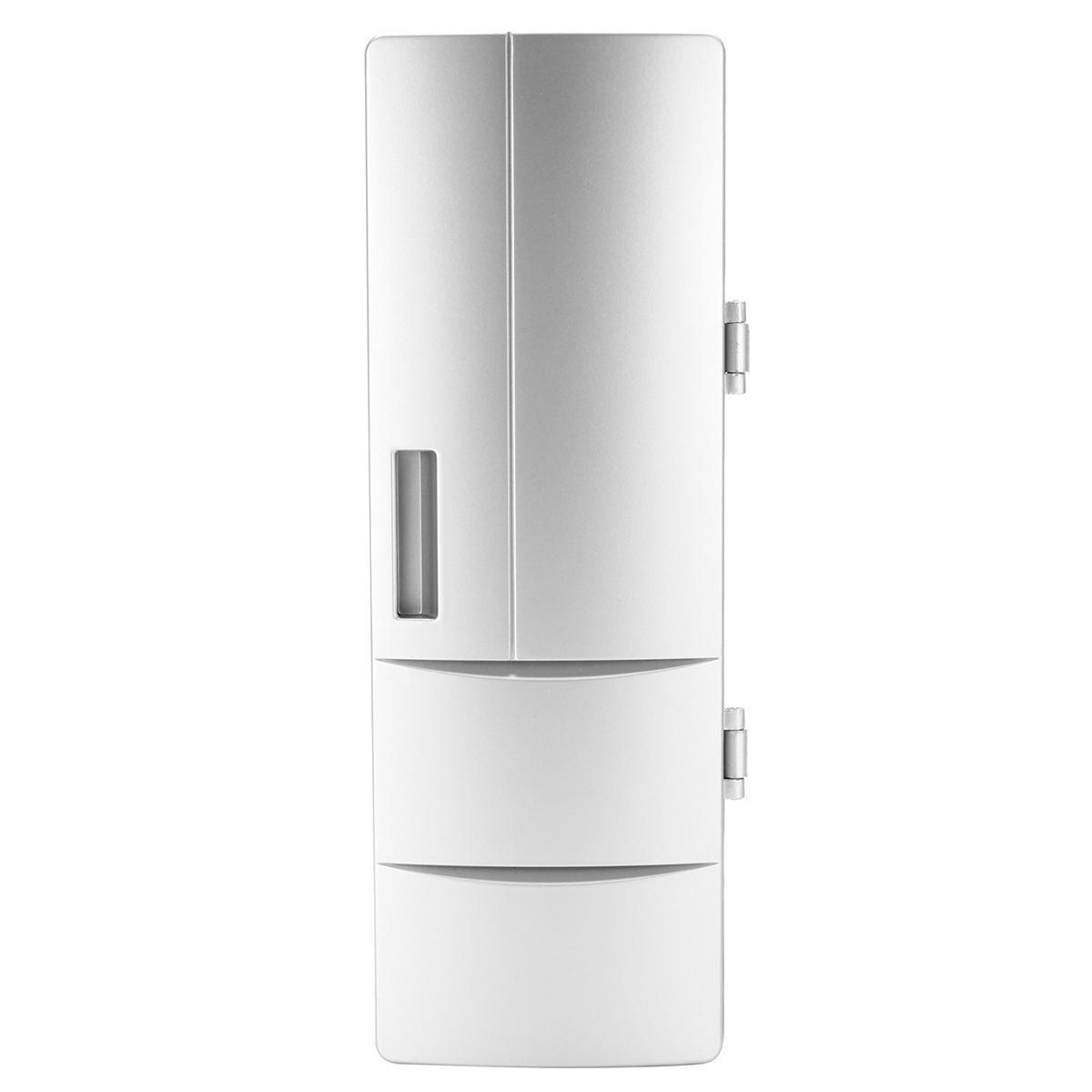 Portable USB Mini Refrigerator Fridge Freezer Beverage Drink Can Cooler  Warmer H