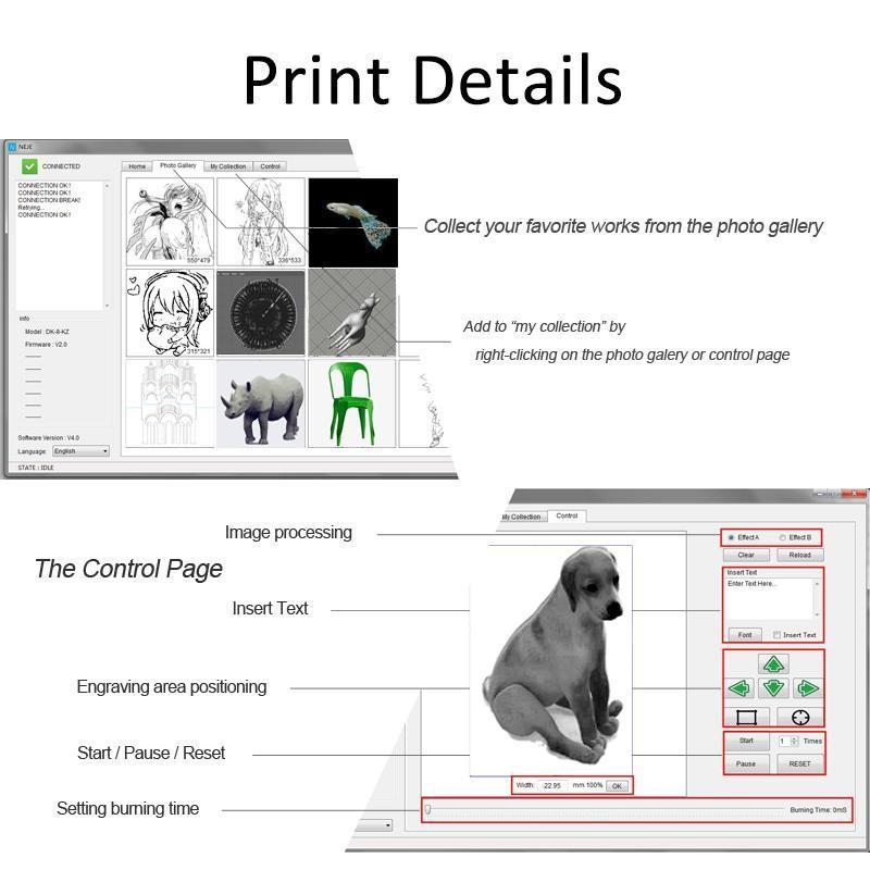 NEJE DK-8-FKZ 1500mW DIY Laser Engraver Cutter Engraving Carving Machine  Printer