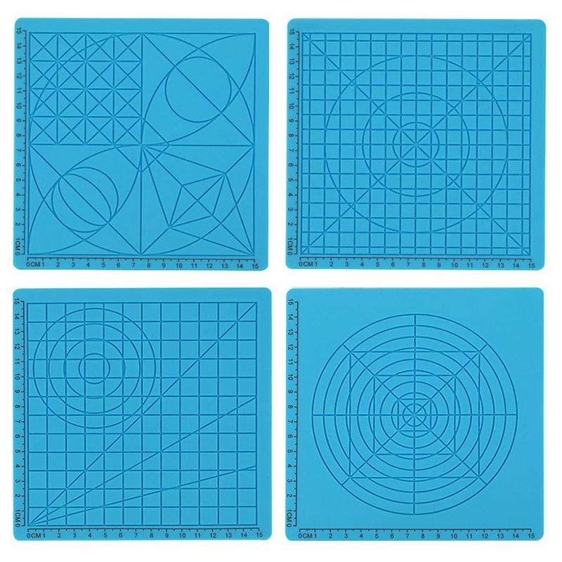3D Pen Mat Silicone Design Mat Drawing Tool with Basic Templates for 3D Pen for Kids