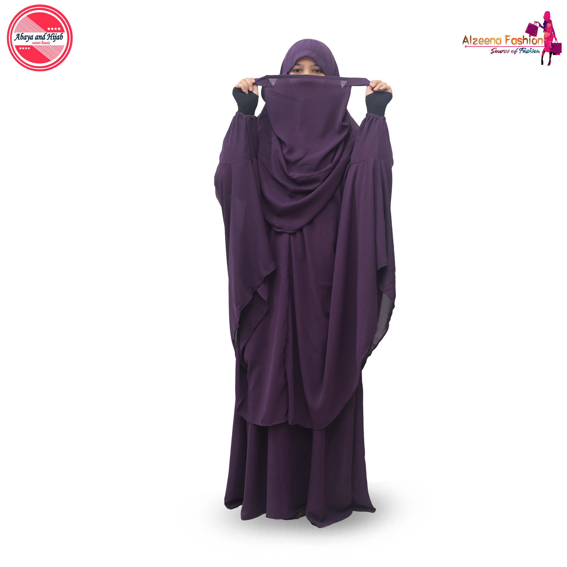 Purple Color Khimar Full Set With Borka 4003 Buy Online At Best Prices In Bangladesh Daraz Com Bd