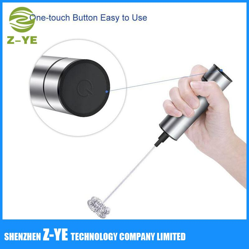 Milk Frother Stainless Steel Electric Handheld Wand with Stand and Brush