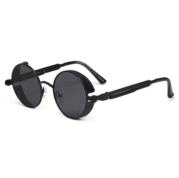 064f10cbd Gothic Steampunk Round Metal Sunglasses for Men Women Mirrored Circle Sun  glasses Brand Designer Retro Vintage