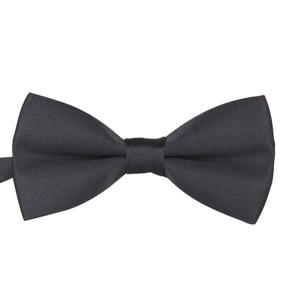 48cf40b042fc Perfect Meet Men's Plain Bowtie Polyester Tied Wedding Tuxedo Bow Tie  Necktie Accessory