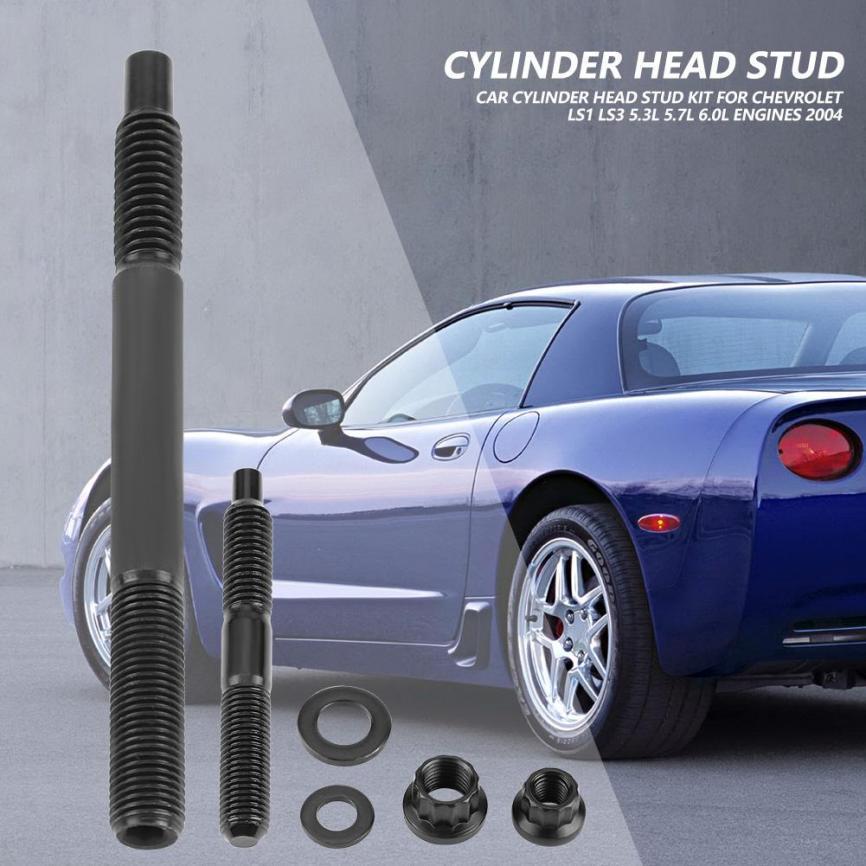 Cylinder Head Stud Kit for Chevy 2004 LS1 LS3 5.3L 5.7L 6.0L Engines