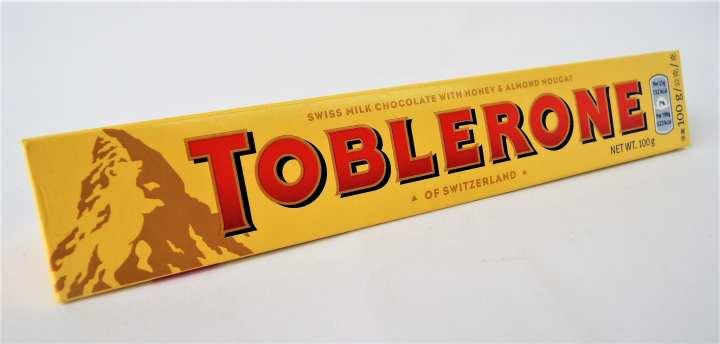 Toblerone Milk Chocolate - Honey and Almond Nougat - 20x100g