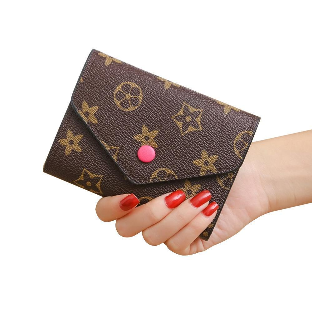 a0e7973d01d6 Bifold Wallets for Women, PU Leather Short Cash Wallets with Buckle  Minimalist Medium Vintage Ladies Pocket Purse Small Coins Credit Card  Holder Retro ...