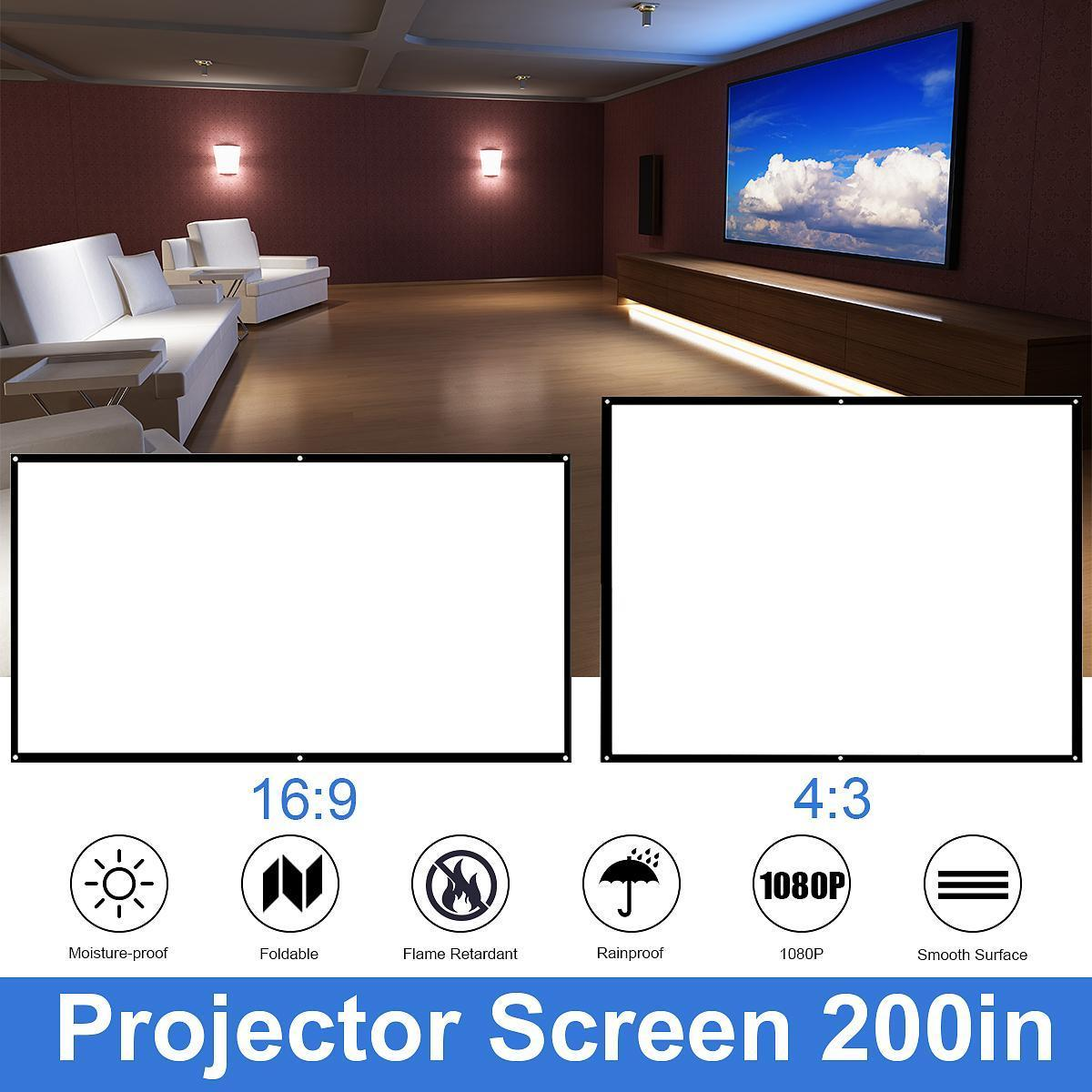 """60//72//84//100//120/"""" Foldable Projector Screen HD 16:9//4:3 Home Theater Projection"""