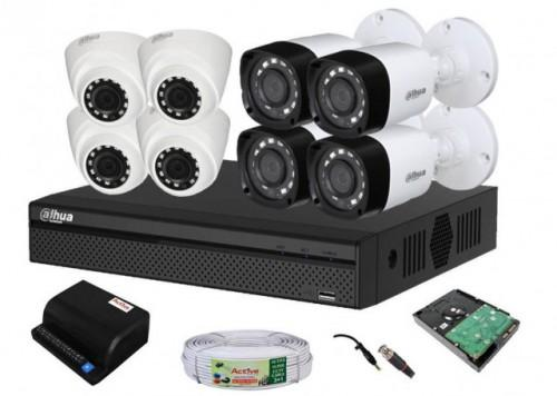 Dahua 8 CCTV Camera Complete Setup
