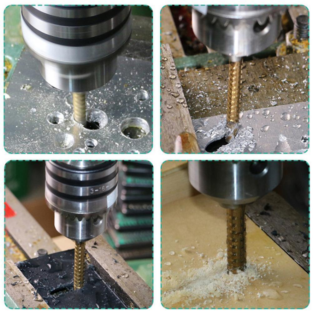 6PCS HSS Drill Bit Set Steal Woodworking Wood Metal Cutting Hole Saw Tool 3-8mm