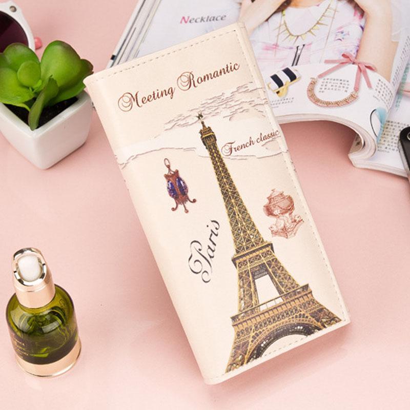Product details of Romantic Paris Pattern Women Long Purse Clutch Wallet Bag Card Holder