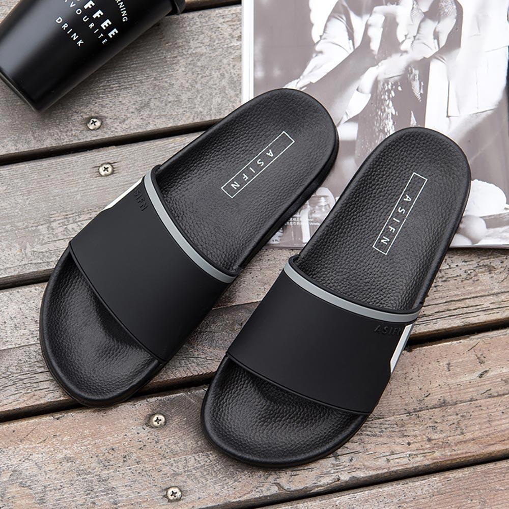 Men/'s Casual Shower Beach Sandals Flip-flops Anti-Slip Slippers Summer Shoes