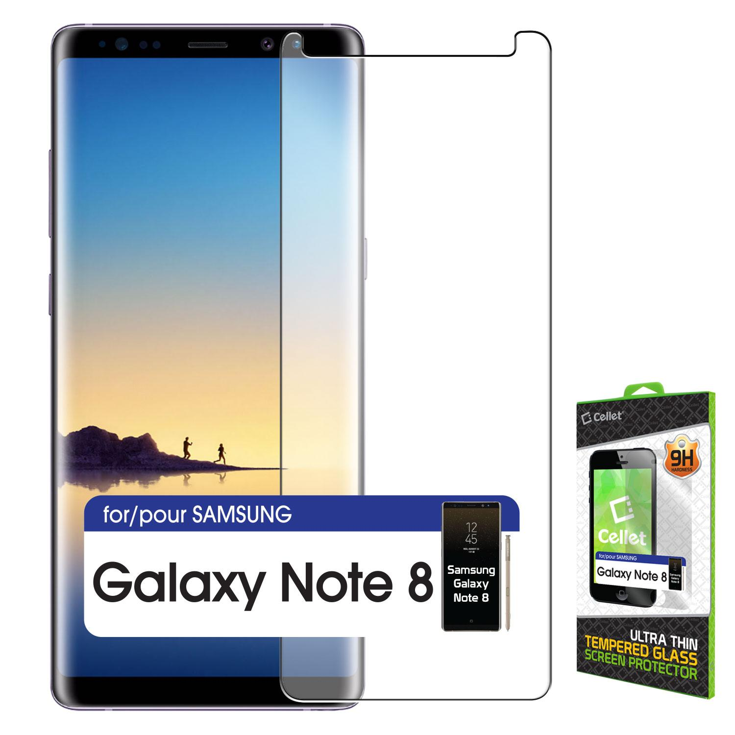 Samsung Galaxy Note 8 - 5D/6D Tempered Glass Screen Protector - Transparent