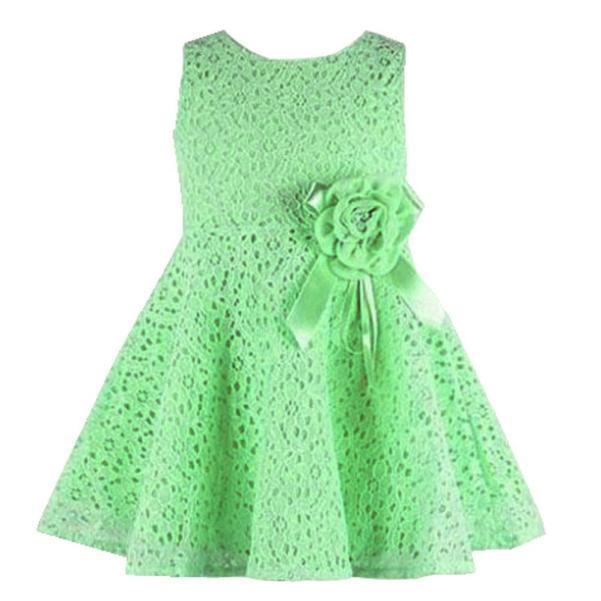 f24e8b6b0ff BlingBlingStar Girls Kids Lace Floral One Piece Dress Child Princess Party  Dress