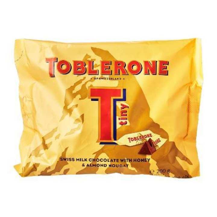 Toblerone Milk Chocolate - Honey and Almond Nougat -  Tiny - 200g/Pack