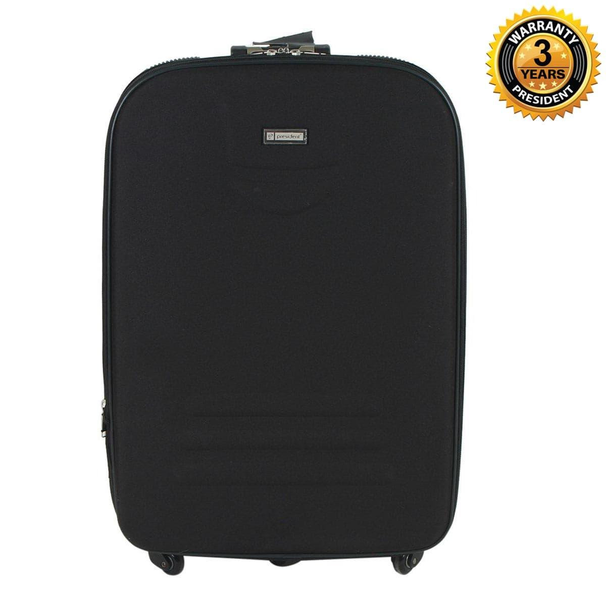 6a02bba10265 PRESIDENT 28 Inch Carry On Luggage Softside Spinner Luggage 4-Wheels  Suitcase Built-in YiF TSA Lock -Black
