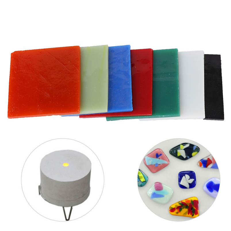 Vivid for Stained Glass Projects Higher Quality Kiln Work Home Mosaic Projects Colorful Glass Sheet,Square Glass Sheet