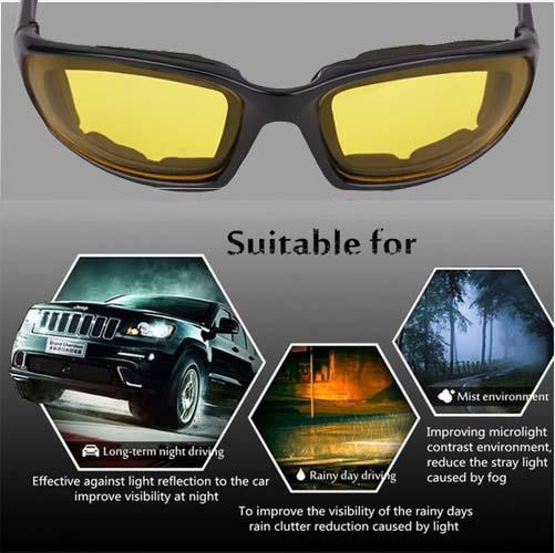 1099041875 Men Women Night Vision Motorcycle Glasses