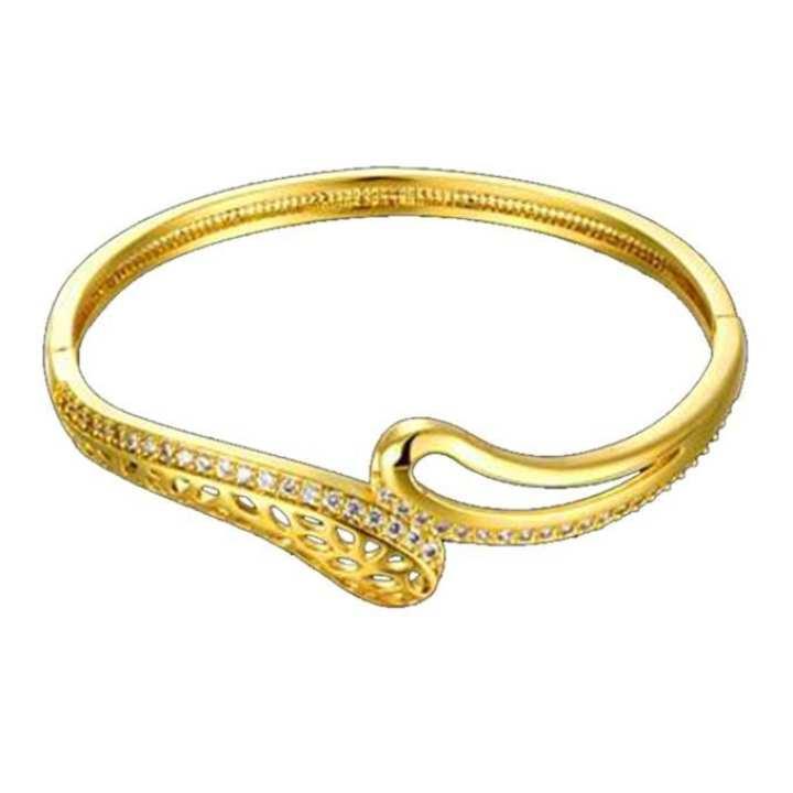 Golden Cubic Zirconia Bracelet for Women