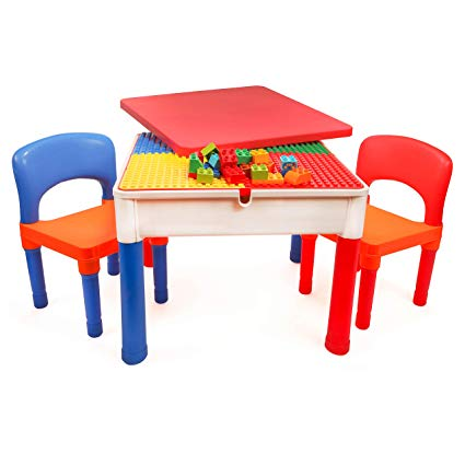 Storage Bag Multipurpose Activity Table, Lego Table With Chairs India