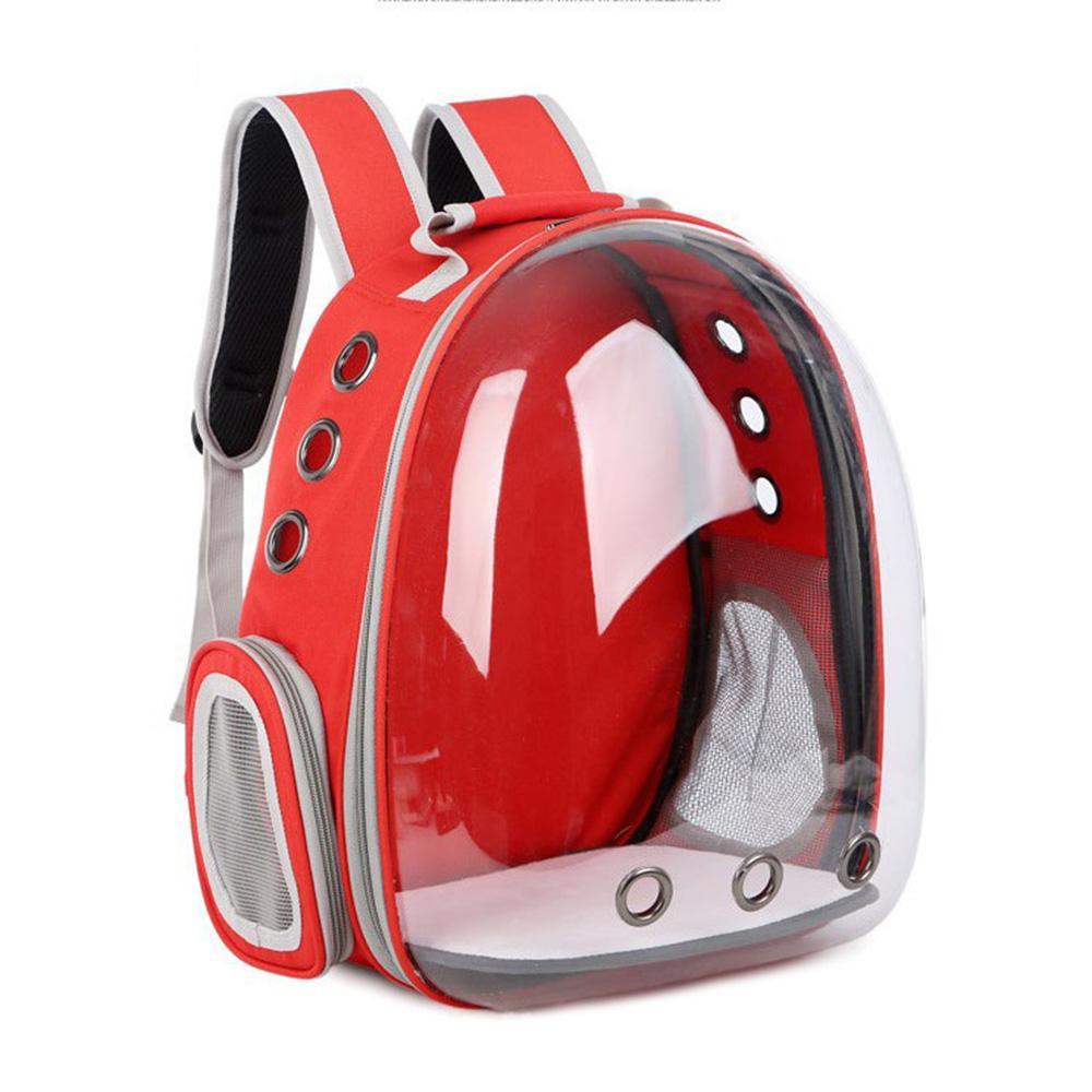abefefd4a2 Dog Cat Transparent Space Capsule Breathable Shoulder Bag Outside Travel  Portable Carry Pet Backpack