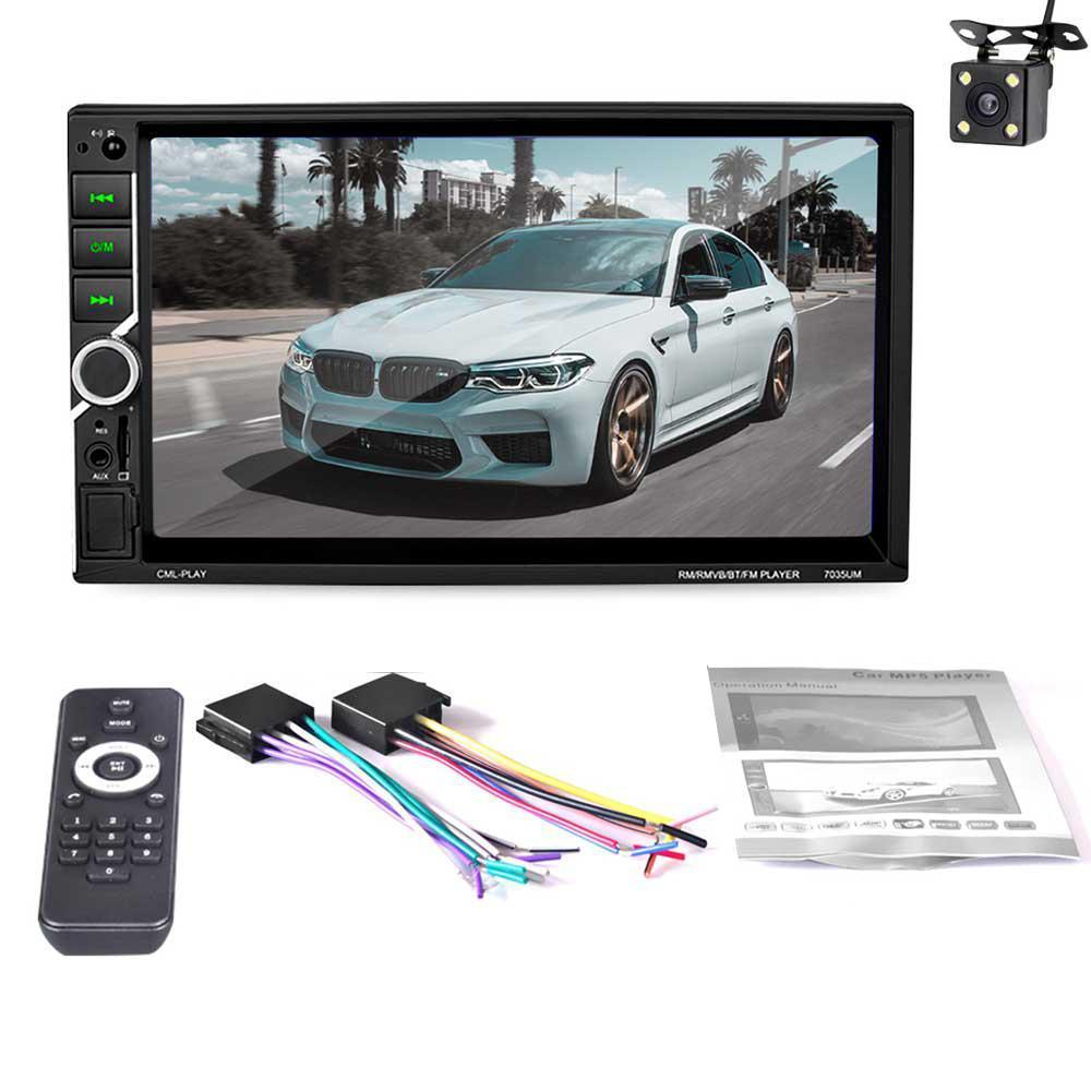 MP5 Car Stereo Receiver,Bluetooth 7inch Touch Screen Car Stereo MP5 Player  with FM Radio Car Audio Support Mirror Link USB/TF Remote Controller and
