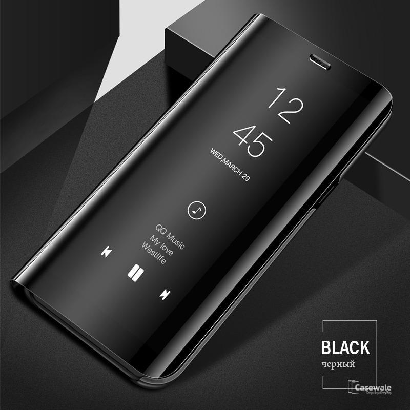 buy online 487b9 37583 Samsung Galaxy A6 Plus (2018) Original Mirror Plating Flip Case BLACK