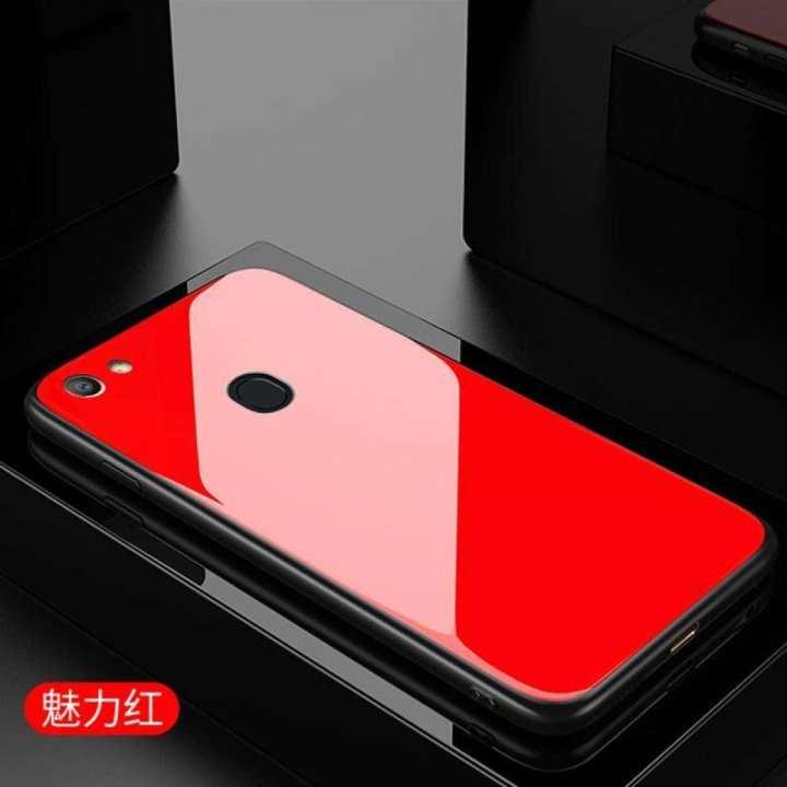 Oppo F5  Glass Case Back Cover