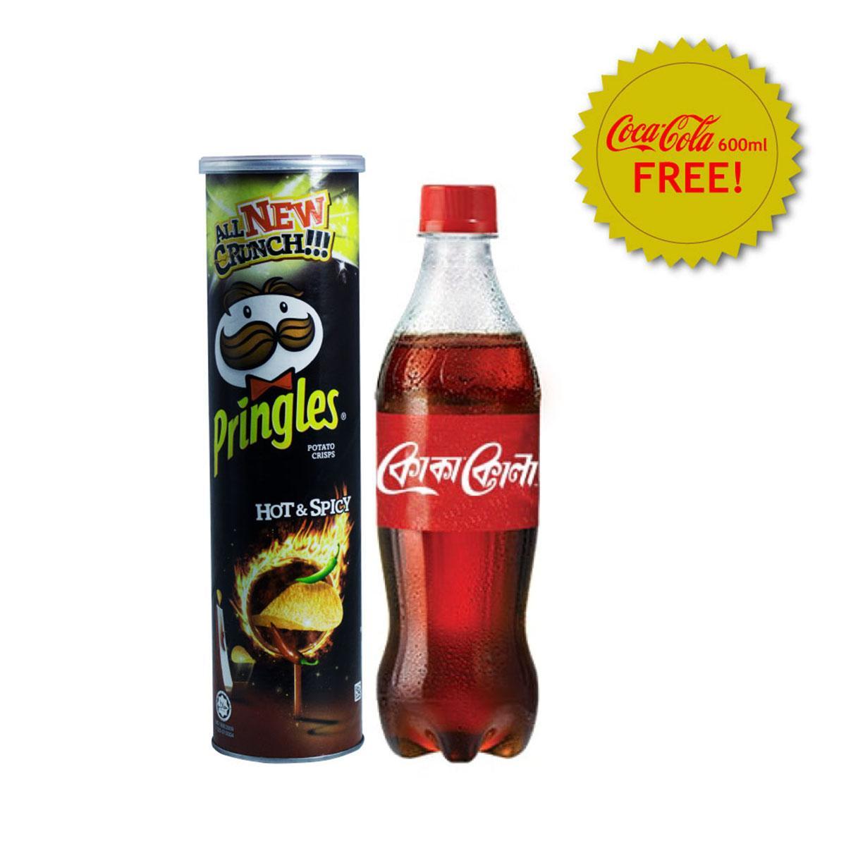 Pringles Hot & Spicy 147g (600 ml Coca-Cola Free)