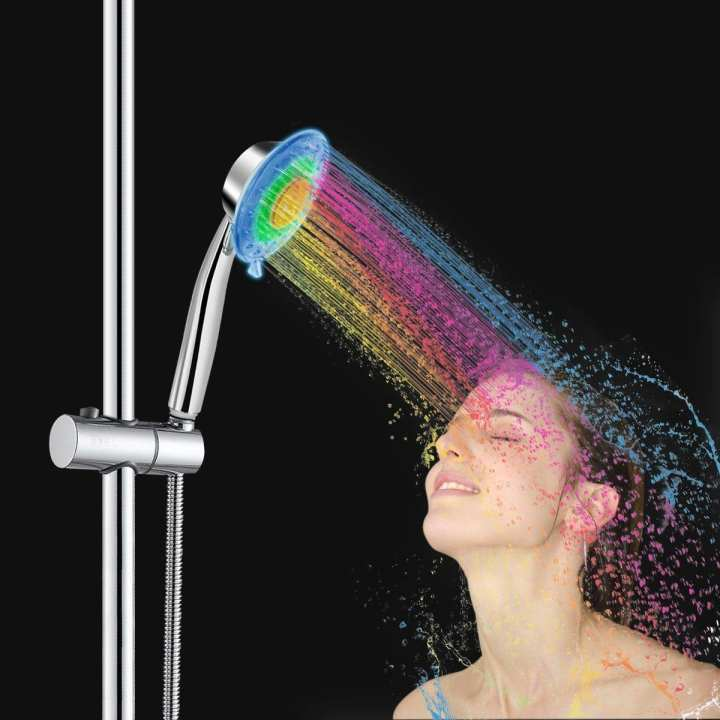 LED 7 Colors Water Glow Light Shower Head (no need batteries or electricity)