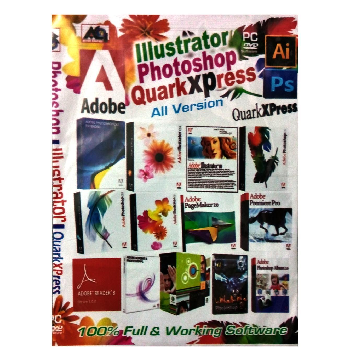 Adobe Illustrator, Photoshop and QuarkXpress full Version _DVD