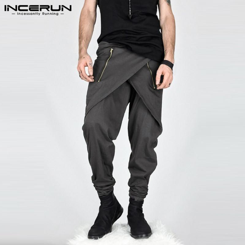 97a10a798e73 INCERUN Men Baggy Harem Pants Street Joggers Bottoms Trouser Cargo Pants  Sweatpants Plus