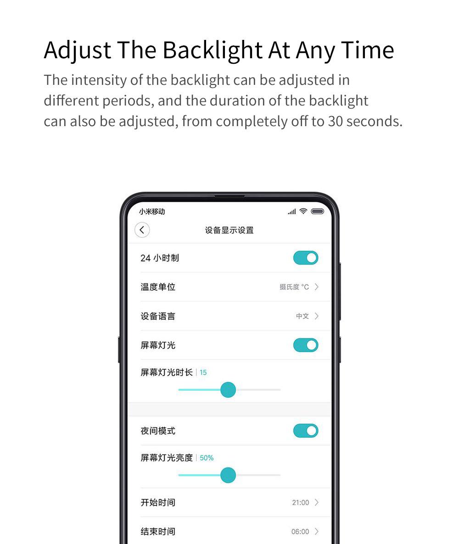 Xiaomi Youpin Qingping Mijia Bluetooth Alarm Clock Alarm Clock Temperature 8