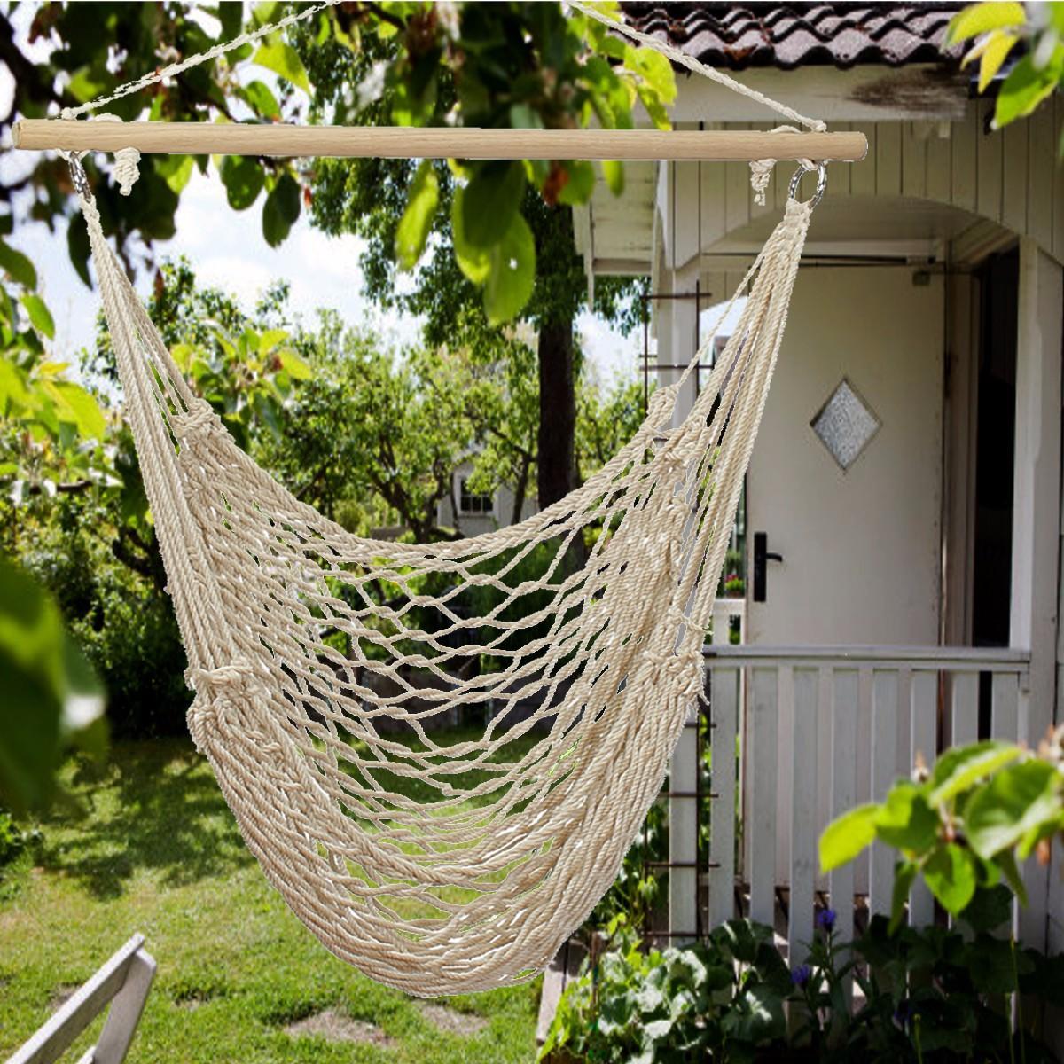 Outdoor Swings Rattan Garden Weave Hammock Chair Hanging
