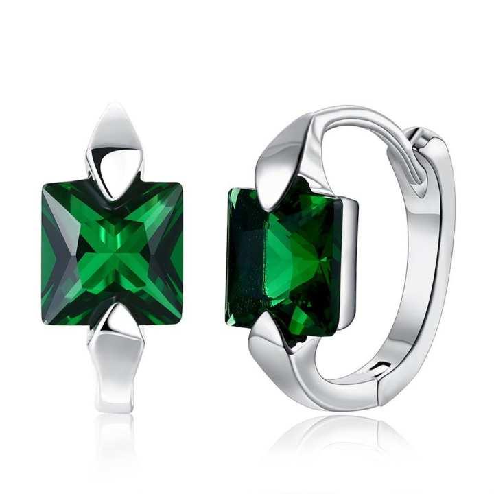 UR Elegant Woman Green Zircon Pendant Classic Earrings Romantic Jewelry Ear Ring