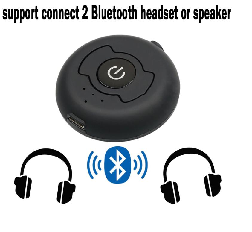 Multi-point Wireless Audio Bluetooth Transmitter For V4 0 Music Stereo  Dongle Adapter TV Smart PC MP3 Two Person