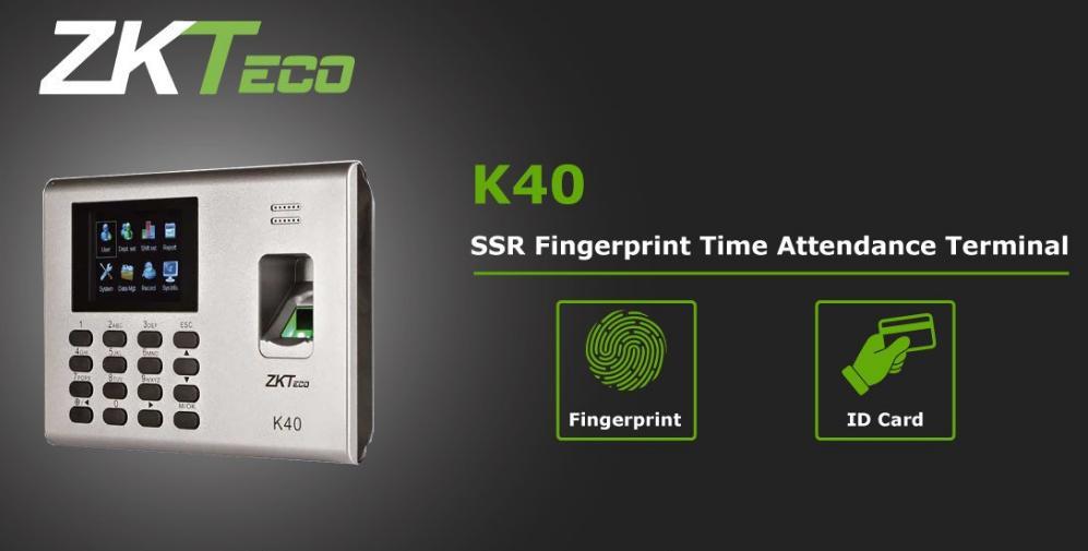 ZKTeco K40 Time Attendance & Simple Access Control