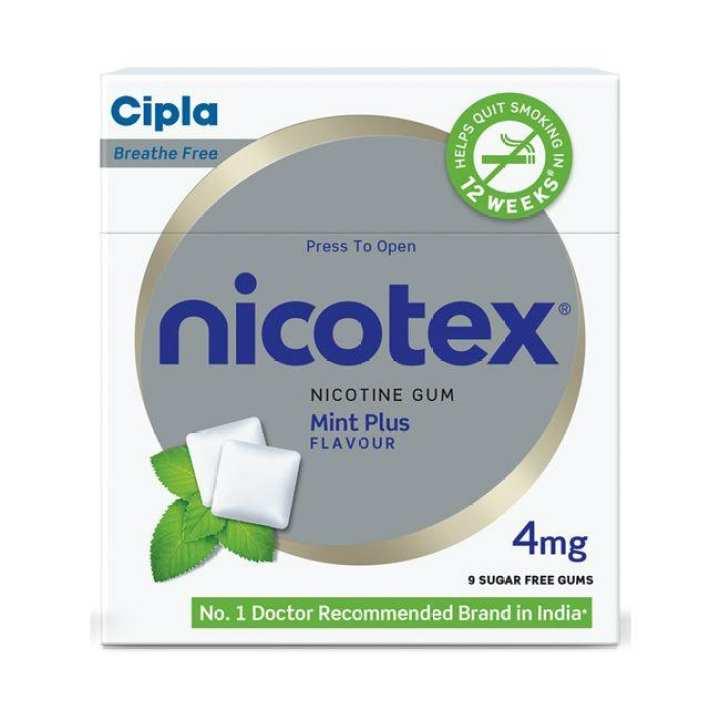 Nicotex Anti Nicotine Chewing Gum Mint - 4gm 1Box